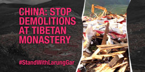 china: stop demolitions at tibetan monastery